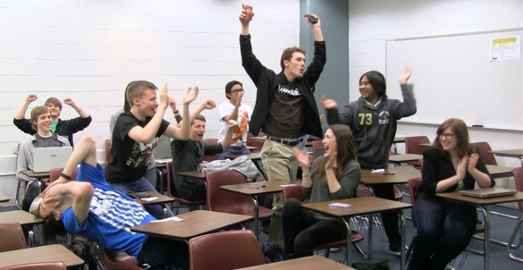 Students celebrate