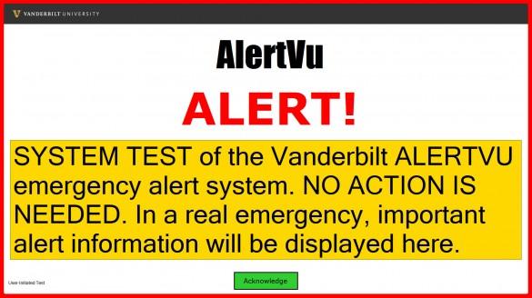 AlertVU Desktop Alert