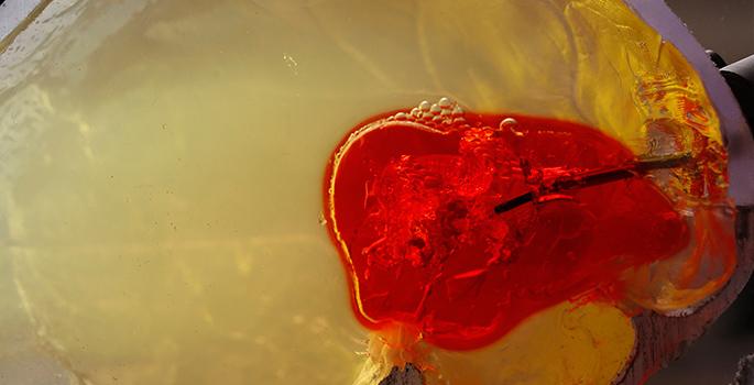 Blood clot simulation
