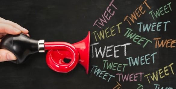 Social media concept - trumpet