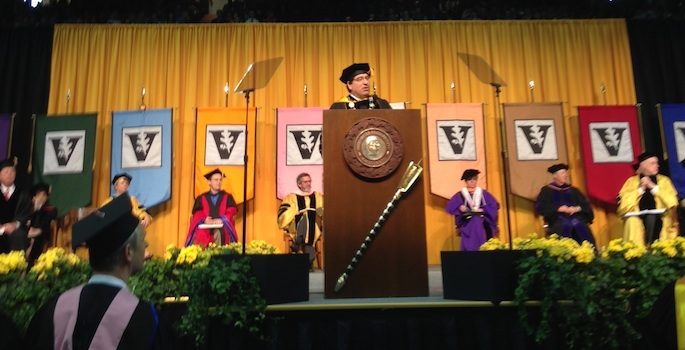 Zeppos addressing graduates