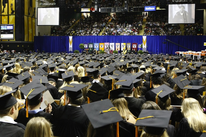 Commencement at Memorial Gym