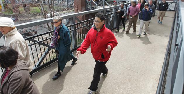 The Vanderbilt community observes National Walking Day on April 3. (Steve Green/Vanderbilt)