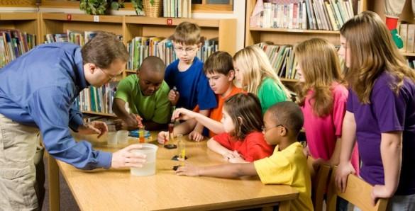 Elementary school science classroom