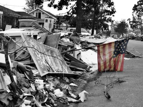Katrina destruction in Louisiana