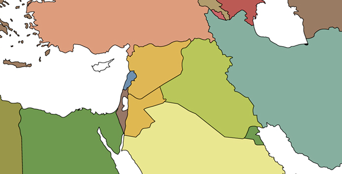 Syria and Iraq on map