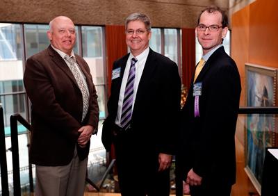 L-r: John Geer, Adam Yeomans of The Associated Press and Josh Clinton. (Joe Howell/Vanderbilt)