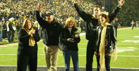 "The Department of Pathology, Microbiology and Immunology was recognized as the ""Greenest Group on Campus"" during the Vanderbilt football game Nov. 17. (Vanderbilt University)Sustainability Competition."
