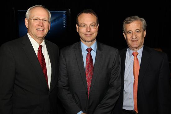 L-r: Raymond Dubois, Jeff Balser and Dan Roden. (Steve Green/Vanderbilt)