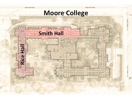 Within Moore College will be Rice Hall and Smith Hall. (Vanderbilt University)