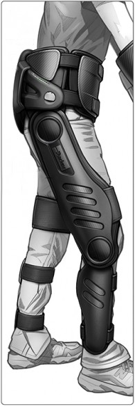 Parker-Hannifin design concept for the commercial version of the exoskeleton.