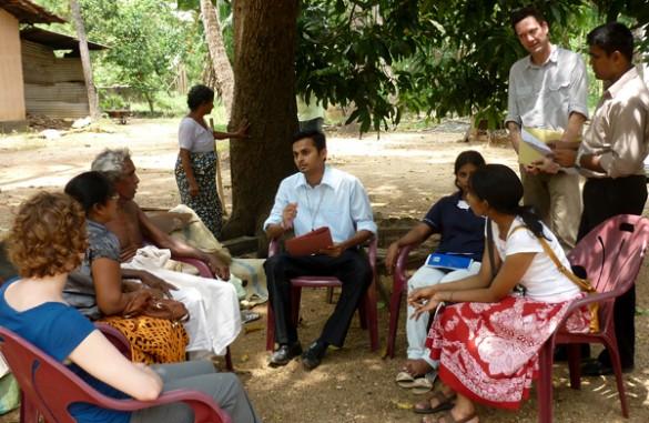 VIEE research team members in Sri Lanka