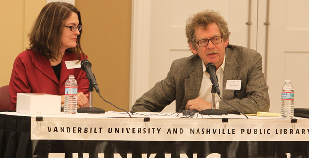 David Wood (right), the W. Alton Jones Professor of Philosophy at Vanderbilt, hosts the Thinking Out of the (Lunch) Box series. (Vanderbilt University)