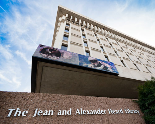 The Jean and Alexander Heard Library, as seen from 21st Avenue South. (Photo by Jon Erickson)