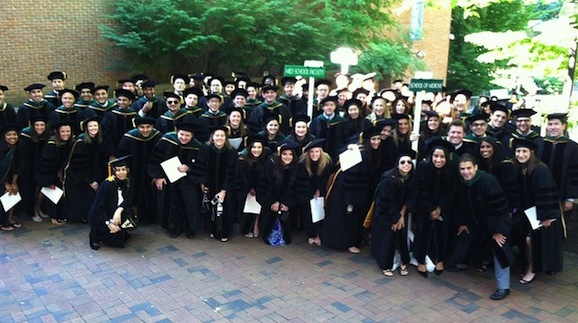 Medical students at Commencement
