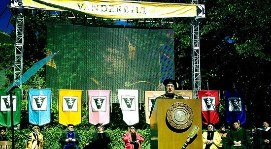 Chancellor speaking at Commencement