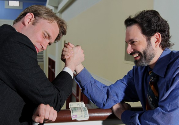 Researchers arm-wrestling