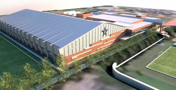 A rendering of the new multipurpose facility and expanded recreation center. (Vanderbilt University)