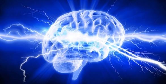 brain and lightning
