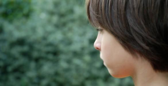 boy in profile
