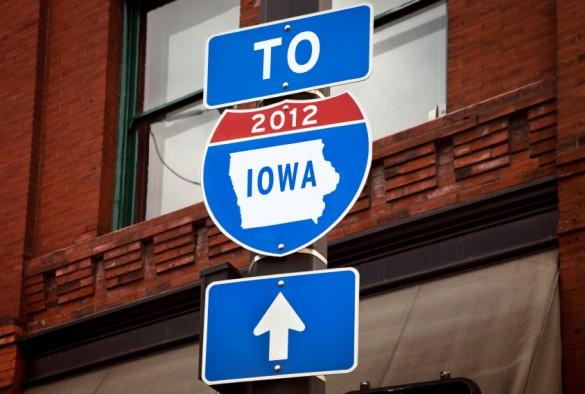 To Iowa 2012 roadsign