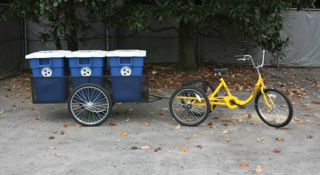 Recycling tricycle and trailer