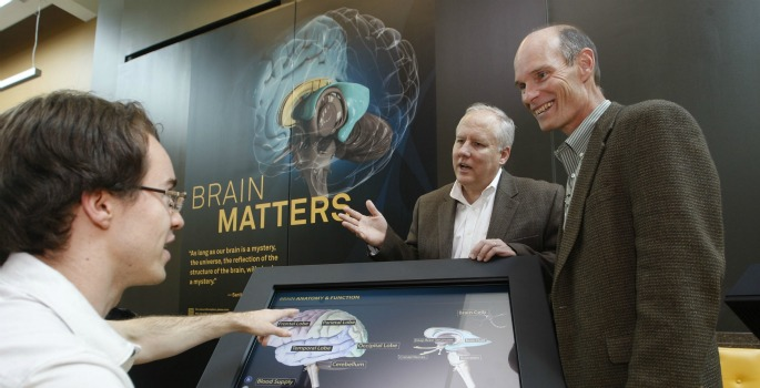 Brain Matters developers with display