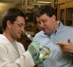 David Cliffel and Matt Casey in lab