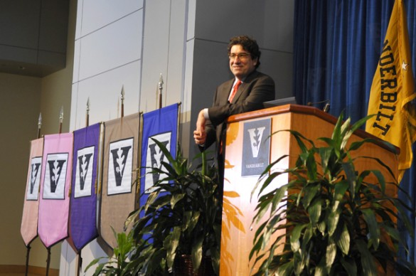 Chancellor Nicholas S. Zeppos will speak Aug. 23 at the 2012 Fall Faculty Assembly. (Anne Rayner/Vanderbilt)