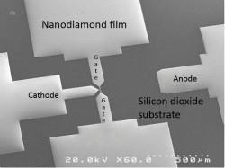 Nanodiamond transistor