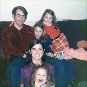 Dennis Hall with his wife and nieces