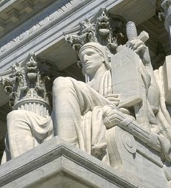 Supreme Court statue of Justice