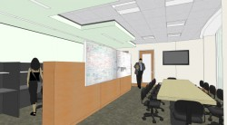 Architect's rendering of the new political science department