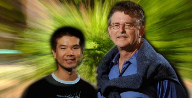 Prof. Thomas Weiler, right, and graduate fellow Chui Man Ho (John Russell / Vanderbilt)