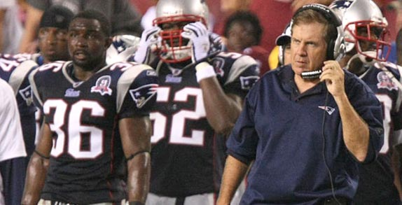 New England Patriots Coach Bill Belichick stood by his risky fourth down call in the 2009 Super Bowl, despite critics beliefs that it caused his team's loss to the Indianapolis Colts. (Keith Allison via Wikimedia Commons)