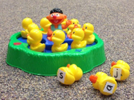 Researchers adapted games to help preschoolers master letters and shapes.