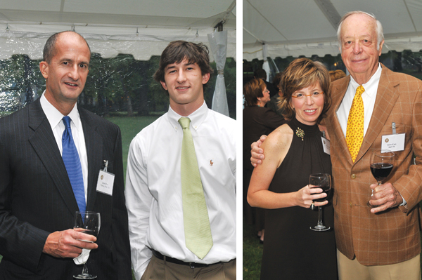John and Tanner Rice, '11;  Mary Cain Helfrich and John Cain;