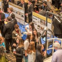 Design Day 2019 is Monday, April 22. The 2018 event (above) drew a packed crowd to the Student Life Center. (John Russell/Vanderbilt University)