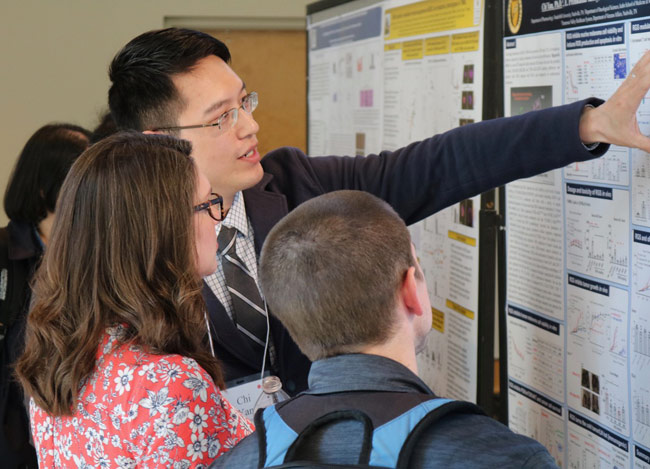 The Vanderbilt Postdoctoral Association Symposium featured postdoc oral and poster presentations, breakout sessions, and networking opportunities. (Anne Rayner/Vanderbilt)