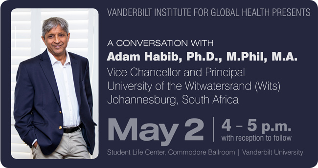 Photo for VIGH hosts conversation with University of the Witwatersrand's Adam Habib May 2