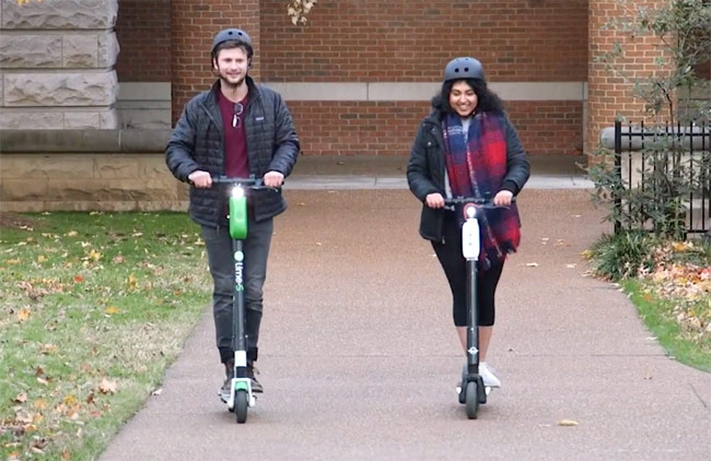 Learn to use electric scooters safely at a free Vanderbilt class on April 27. (Vanderbilt University)
