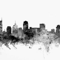 Abstract Nashville skyline