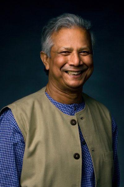 Muhammad Yunus smiling(Vanderbilt University/Daniel Dubois)