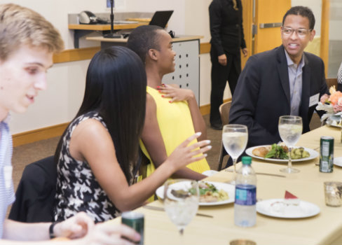NFL executive and Vanderbilt alumnus Adolpho A. Birch joins students for dinner