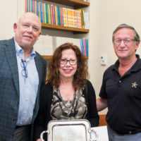 L-r: Dean John Geer, Jane Landers and Marshall Eakin (Vanderbilt University)