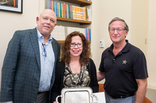 L-r: Dean John Geer, Jane Landers and Marshall Eakin (Vanderbilt University)