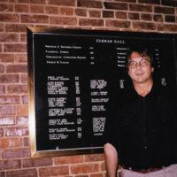 Hervé Allet, former assistant professor of French, in Furman Hall on the Vanderbilt University campus.