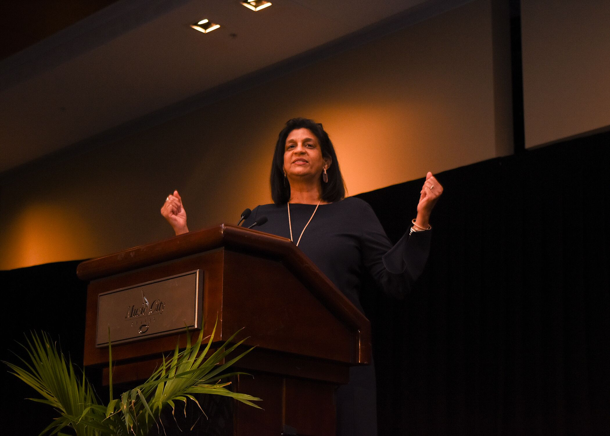 Gail Williams, associate director for community relations speaking at the Francis S. Guess Bridge to Equality Luncheon. (Photo by Morgan Yingling)
