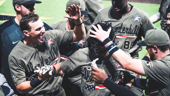 Vanderbilt smacked four home runs en route to capturing the NCAA Nashville Regional with a 12-1 victory against Indiana State on Sunday night at Hawkins Field. The Commodores will advance to play Duke in the NCAA Super Regionals next weekend.