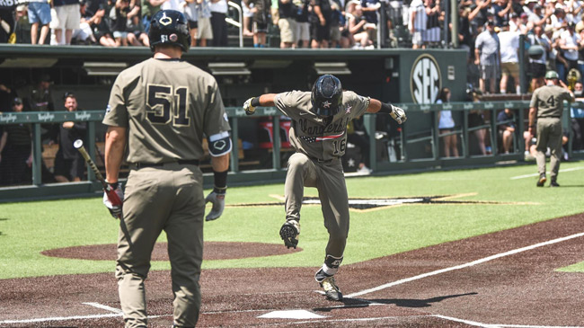 Vanderbilt is headed to the College World Series. The Commodores hit five home runs en route to a 13-2 win against Duke in game three of the NCAA Nashville Super Regional on Sunday afternoon at Hawkins Field. (Vanderbilt University)